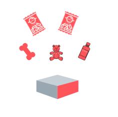 caja con 2 juguetes